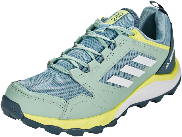 adidas TERREX Agravic TR Zapatillas Trail Running Mujer, ash grey/footwear  white/yellow tint
